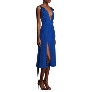 New Prabal Gurung Silk Button Slit Dress 4 $1595